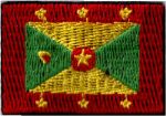 Grenada Embroidered Flag Patch, style small (discontinued).